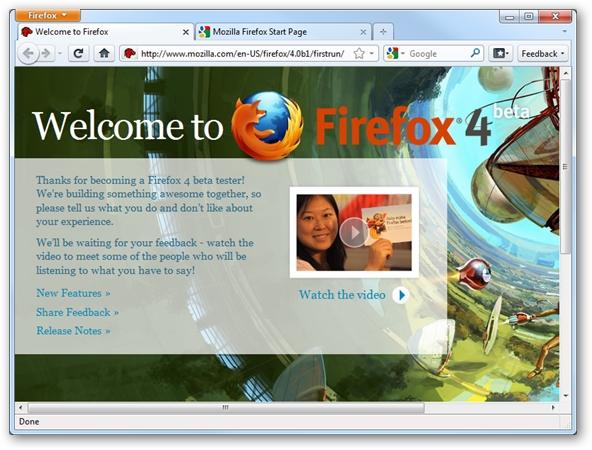 Firefox 4 beta verzija